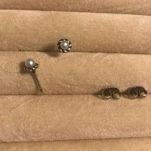 Petite Cultured Pearl Stud Earrings